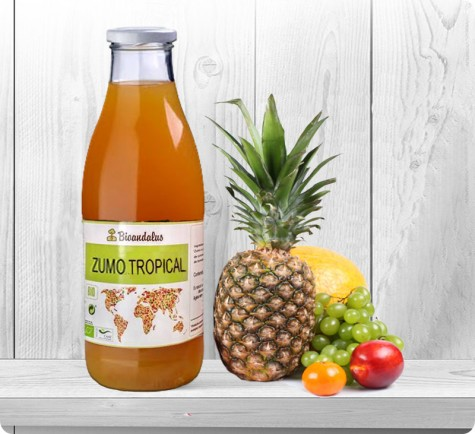 Zumo tropical ecológico
